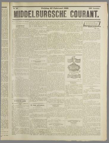 Middelburgsche Courant 1925-02-27