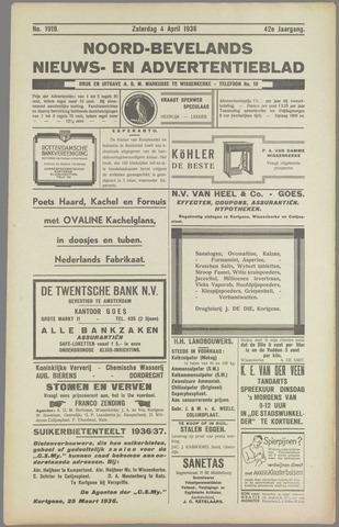 Noord-Bevelands Nieuws- en advertentieblad 1936-04-04