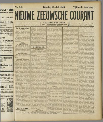 Nieuwe Zeeuwsche Courant 1919-07-15