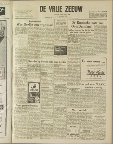 de Vrije Zeeuw 1958-11-28