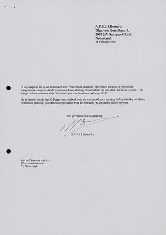 Watersnood documentatie 1953 - diversen 2001