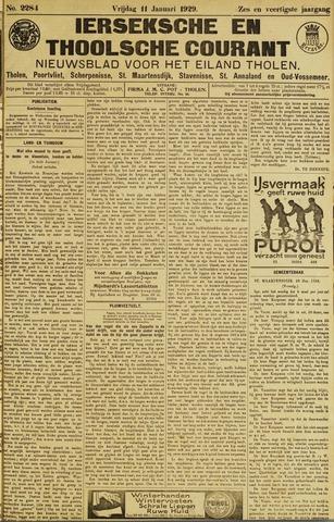 Ierseksche en Thoolsche Courant 1929-01-11