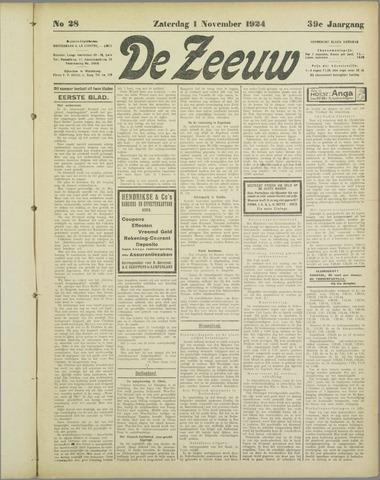 De Zeeuw. Christelijk-historisch nieuwsblad voor Zeeland 1924-11-01