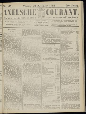Axelsche Courant 1923-11-20