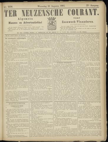 Ter Neuzensche Courant. Algemeen Nieuws- en Advertentieblad voor Zeeuwsch-Vlaanderen / Neuzensche Courant ... (idem) / (Algemeen) nieuws en advertentieblad voor Zeeuwsch-Vlaanderen 1887-08-31