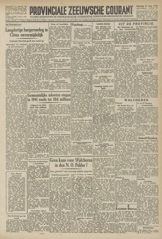 Provinciale Zeeuwse Courant 1946-08-13