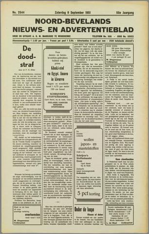 Noord-Bevelands Nieuws- en advertentieblad 1951-09-08