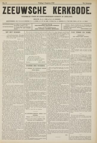 Zeeuwsche kerkbode, weekblad gewijd aan de belangen der gereformeerde kerken/ Zeeuwsch kerkblad 1940-08-02