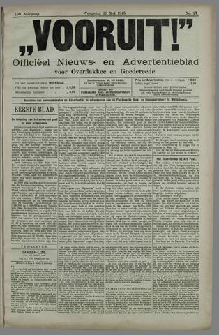 """""""Vooruit!""""Officieel Nieuws- en Advertentieblad voor Overflakkee en Goedereede 1915-05-19"""