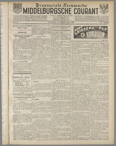 Middelburgsche Courant 1930-02-25
