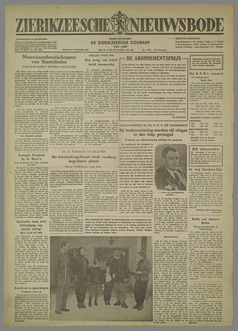 Zierikzeesche Nieuwsbode 1954-01-05
