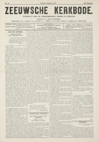 Zeeuwsche kerkbode, weekblad gewijd aan de belangen der gereformeerde kerken/ Zeeuwsch kerkblad 1935-08-02