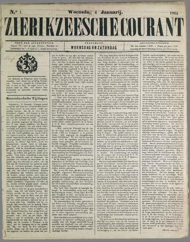 Zierikzeesche Courant 1865