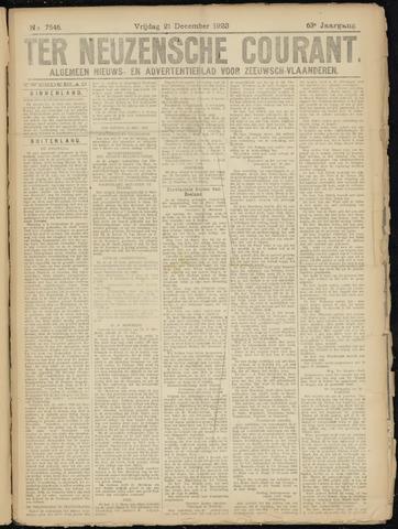 Ter Neuzensche Courant. Algemeen Nieuws- en Advertentieblad voor Zeeuwsch-Vlaanderen / Neuzensche Courant ... (idem) / (Algemeen) nieuws en advertentieblad voor Zeeuwsch-Vlaanderen 1923-12-21
