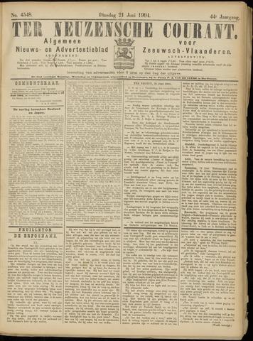 Ter Neuzensche Courant. Algemeen Nieuws- en Advertentieblad voor Zeeuwsch-Vlaanderen / Neuzensche Courant ... (idem) / (Algemeen) nieuws en advertentieblad voor Zeeuwsch-Vlaanderen 1904-06-21