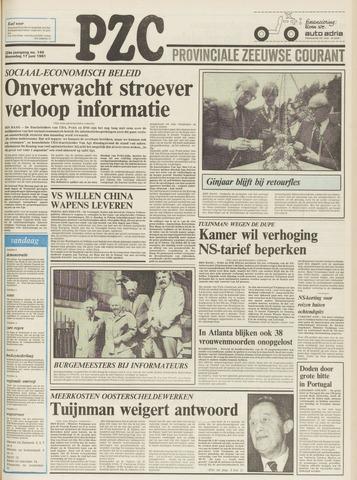 Provinciale Zeeuwse Courant 1981-06-17