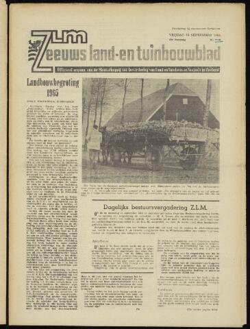 Zeeuwsch landbouwblad ... ZLM land- en tuinbouwblad 1964-09-18