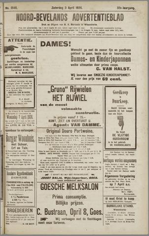 Noord-Bevelands Nieuws- en advertentieblad 1926-04-03