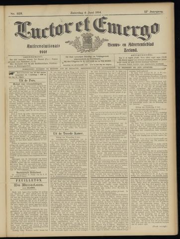 Luctor et Emergo. Antirevolutionair nieuws- en advertentieblad voor Zeeland / Zeeuwsch-Vlaanderen. Orgaan ter verspreiding van de christelijke beginselen in Zeeuwsch-Vlaanderen 1914-06-06