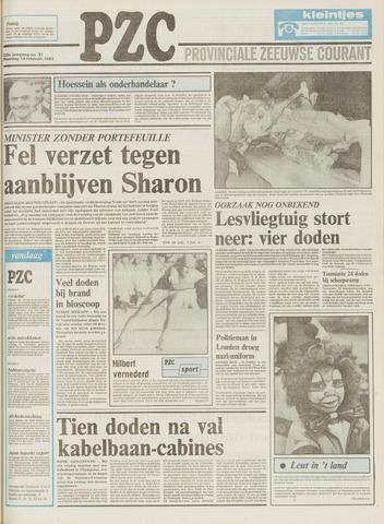 Provinciale Zeeuwse Courant 1983-02-14