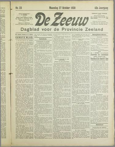 De Zeeuw. Christelijk-historisch nieuwsblad voor Zeeland 1930-10-27