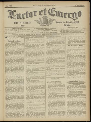 Luctor et Emergo. Antirevolutionair nieuws- en advertentieblad voor Zeeland / Zeeuwsch-Vlaanderen. Orgaan ter verspreiding van de christelijke beginselen in Zeeuwsch-Vlaanderen 1913-11-19