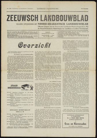 Zeeuwsch landbouwblad ... ZLM land- en tuinbouwblad 1953-08-01