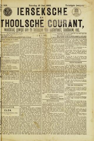 Ierseksche en Thoolsche Courant 1903-06-13