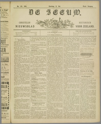 De Zeeuw. Christelijk-historisch nieuwsblad voor Zeeland 1896-07-16
