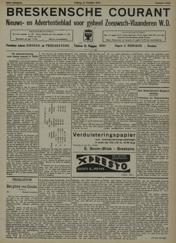 Breskensche Courant 1938-10-21
