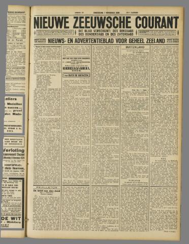 Nieuwe Zeeuwsche Courant 1929-11-07