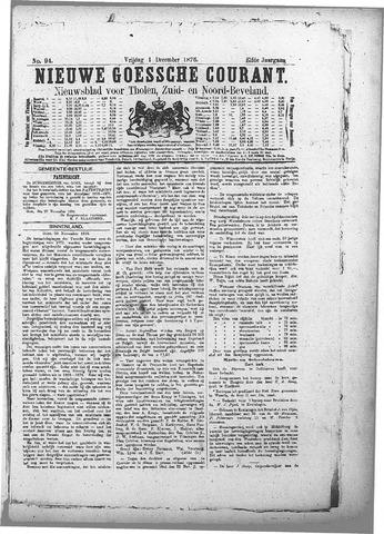 Nieuwe Goessche Courant 1876-12-01