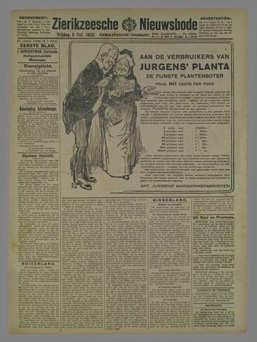 Zierikzeesche Nieuwsbode 1923-10-05
