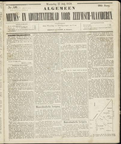 Ter Neuzensche Courant. Algemeen Nieuws- en Advertentieblad voor Zeeuwsch-Vlaanderen / Neuzensche Courant ... (idem) / (Algemeen) nieuws en advertentieblad voor Zeeuwsch-Vlaanderen 1870-07-27