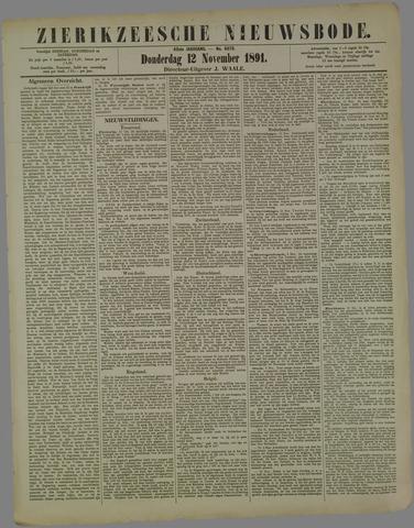 Zierikzeesche Nieuwsbode 1891-11-12