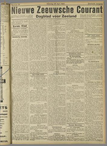 Nieuwe Zeeuwsche Courant 1920-04-24