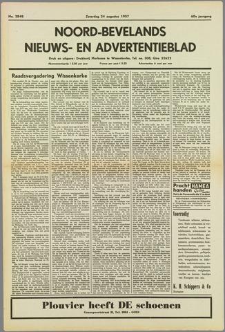 Noord-Bevelands Nieuws- en advertentieblad 1957-08-24