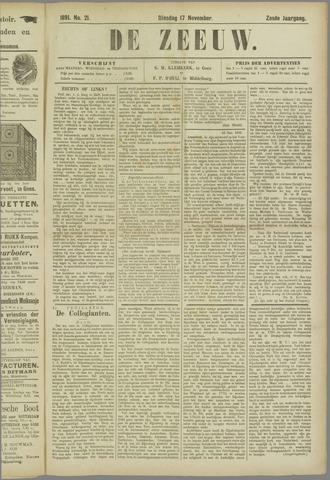 De Zeeuw. Christelijk-historisch nieuwsblad voor Zeeland 1891-11-17