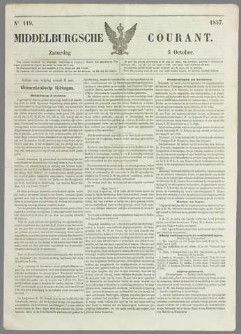 Middelburgsche Courant 1857-10-03