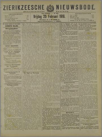 Zierikzeesche Nieuwsbode 1916-02-25