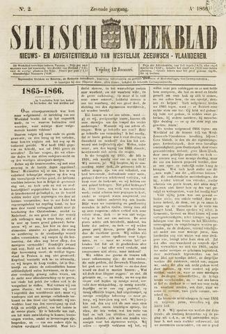 Sluisch Weekblad. Nieuws- en advertentieblad voor Westelijk Zeeuwsch-Vlaanderen 1866-01-12