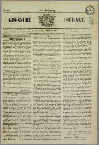 Goessche Courant 1854-11-02