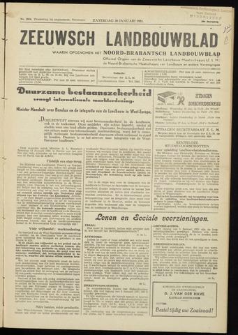 Zeeuwsch landbouwblad ... ZLM land- en tuinbouwblad 1951-01-20