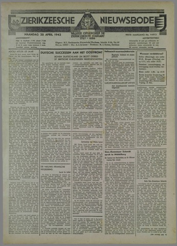 Zierikzeesche Nieuwsbode 1942-04-20