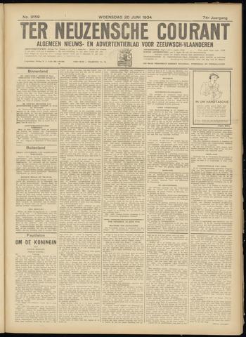 Ter Neuzensche Courant. Algemeen Nieuws- en Advertentieblad voor Zeeuwsch-Vlaanderen / Neuzensche Courant ... (idem) / (Algemeen) nieuws en advertentieblad voor Zeeuwsch-Vlaanderen 1934-06-20