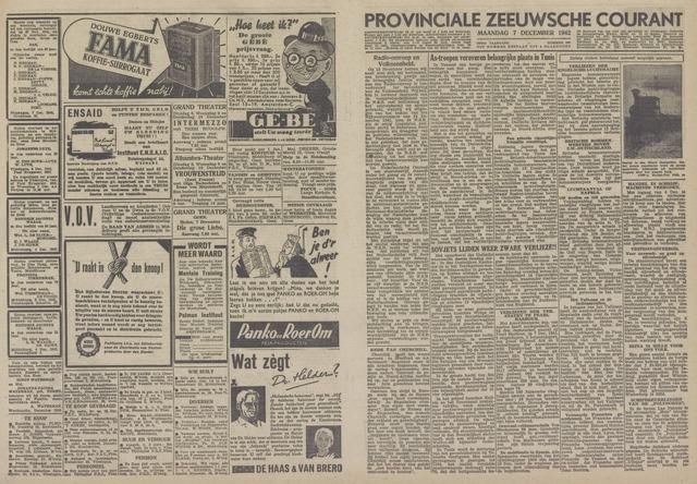 Provinciale Zeeuwse Courant 1942-12-07