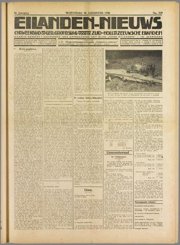 Eilanden-nieuws. Christelijk streekblad op gereformeerde grondslag 1936-08-26