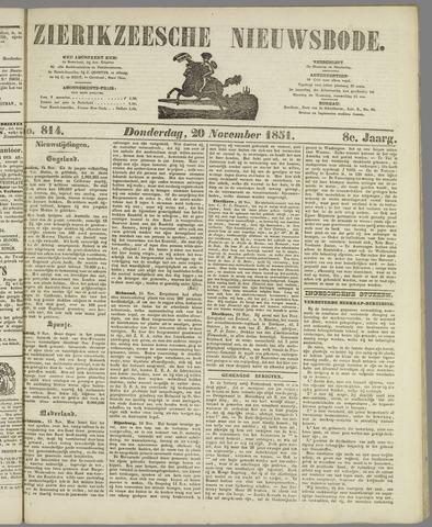 Zierikzeesche Nieuwsbode 1851-11-20