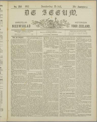 De Zeeuw. Christelijk-historisch nieuwsblad voor Zeeland 1912-07-25