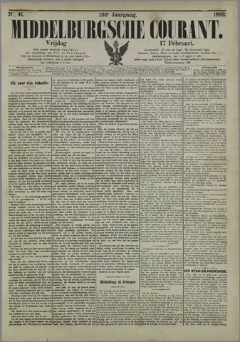 Middelburgsche Courant 1893-02-17